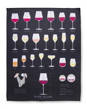 Microfiber wine glass polishing cloth